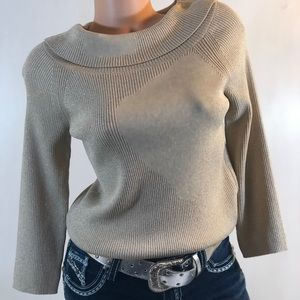 Talbots Gold Sparkly Sweater MP